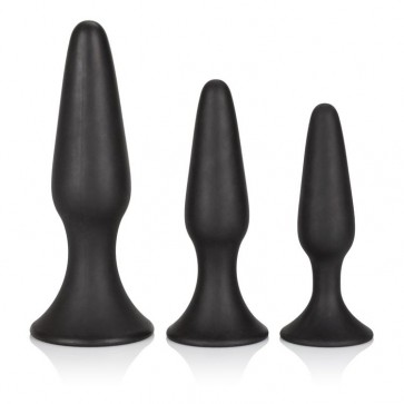 Kit Cunei Anali - Silicone Anal Trainer Kit Black