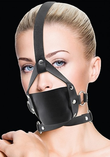 Museruola - Leather Mouth Gag - Black