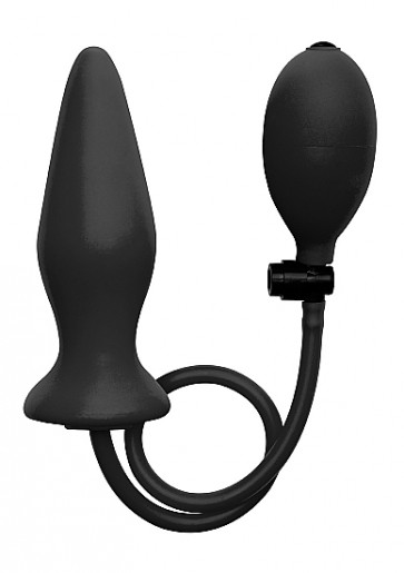 Cuneo Anale Gonfiabile - Inflatable Silicone Plug - Black