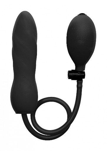 Fallo Gonfiabile - Inflatable Silicone Twist- Black
