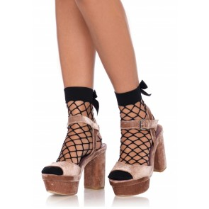 Calze - Net anklets with a bow top (Taglia Unica)