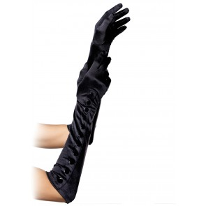 Guanti - Satin Gloves With Snap Button OS