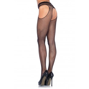 Collant - Fishnet Suspender Pantyhose OS
