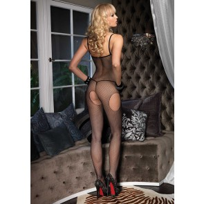 Suspender Bodystocking OS