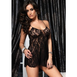 Chemise With G-String Black OS